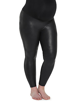 8232f73300000f Spanx - Maternity Mama Faux Leather Leggings - lordandtaylor.com