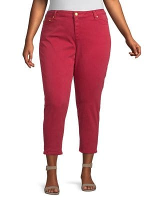 Plus Cropped Skinny Jeans 500088526398