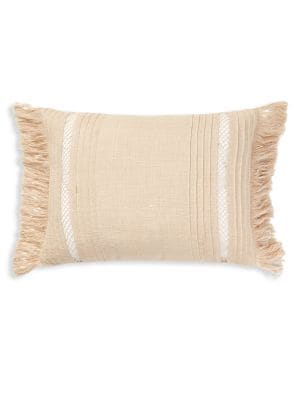 Fringe Linen Throw Pillow...