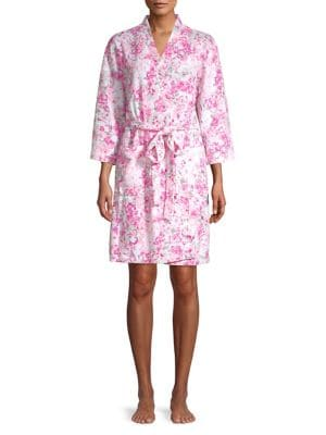 Floral-Print Robe @...
