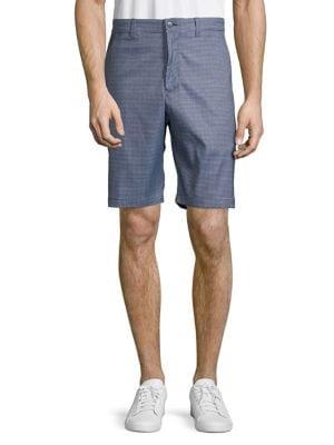 Stretch Heathered Houndstooth-Print Golf Shorts 500088534199
