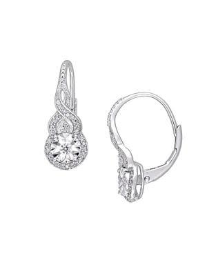 0.25 TCW Diamond and Sterling Silver Twist Earrings