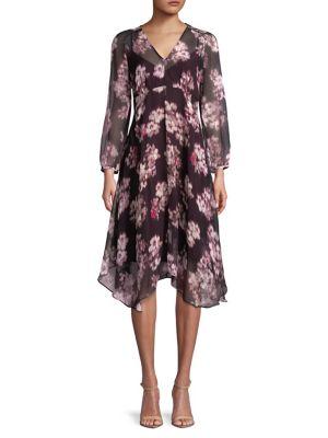 Floral Printed Midi Dress...