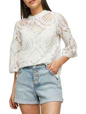 Crochet Lace Top @...