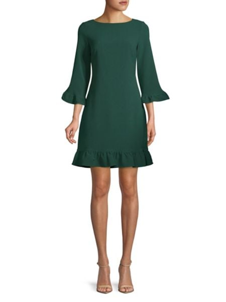 Embellished Bell Sleeve Sheath Dress by Eliza J