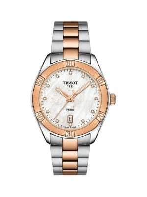 Image of T-Classic PR 100 Sport Chic Stainless Steel Bracelet Watch