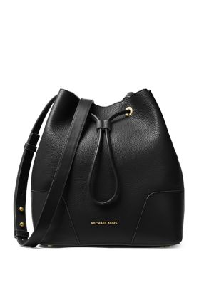 Cary Leather Bucket Bag...