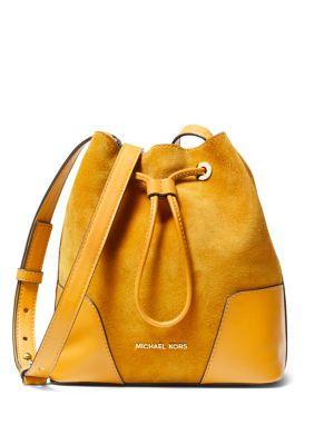 Cary Suede Bucket Bag...