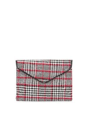 Image of Plaid Envelope Clutch