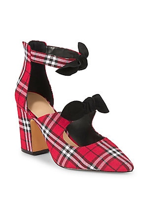 fa71476f36 Lord & Taylor - Lucie Plaid Bow Pumps - lordandtaylor.com