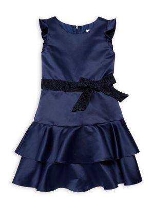 Girl's Carly Satin Tiered...