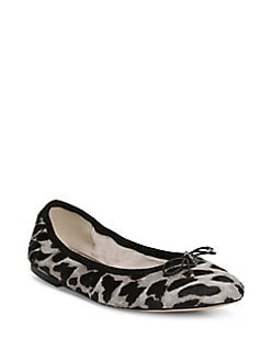 7ea9837e2b07 Felicia Leopard-Print Calf Hair Ballet Flats GREY. QUICK VIEW. Product  image. QUICK VIEW. Sam Edelman