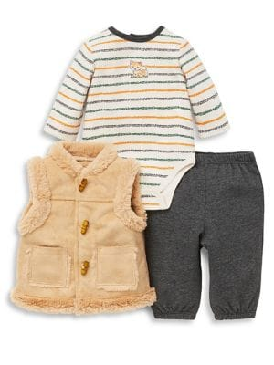 Baby Boys ThreePiece Vest Set