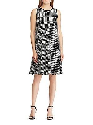 Lauren Ralph Pee Sleeveless A Line Dress