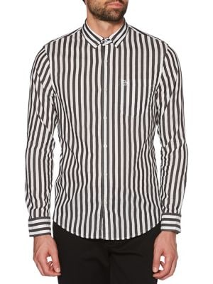 Two-Tone Vertical Striped...