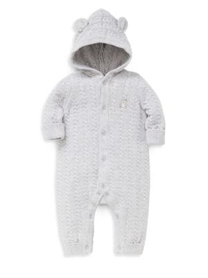 Baby's Hooded Cable-Knit...