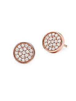 e64f18100c0354 ... Crystal Stud Earrings ROSE GOLD. QUICK VIEW. Product image. QUICK VIEW. Michael  Kors