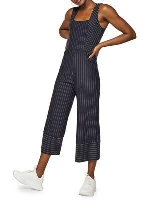 Striped Sleeveless Jumpsuit...