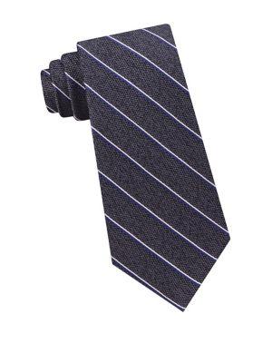 Asymmetrical Stripe Silk...