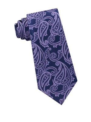 Ground Paisley Silk Tie...