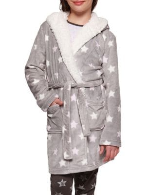 Girl's Fleece Star Robe...