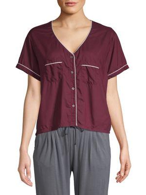 V-Neck Cropped Pajama...
