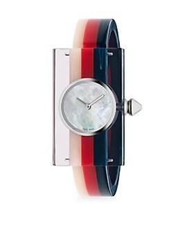 cb2fde9f00f QUICK VIEW. Gucci. Striped Plexiglas Watch