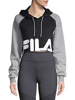 45eae2d205a Luciana Colorblocked Cropped Hoodie PEACOAT. QUICK VIEW. Product image.  QUICK VIEW. FILA