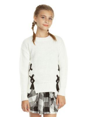 Girl's Long-Sleeve Sweater...