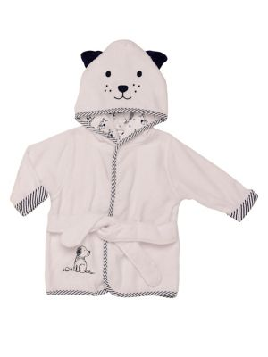 Baby's Hooded Puppy Bathrobe...