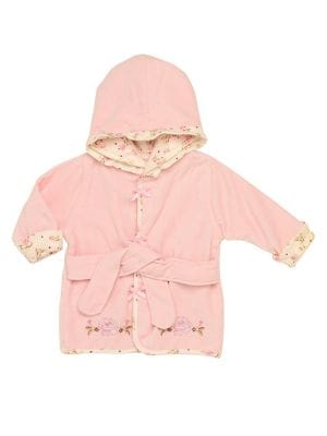 Baby Girl's Rose Hooded...