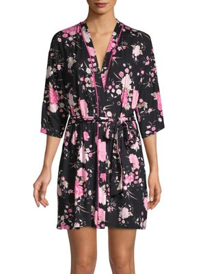 Notch Floral Robe @...