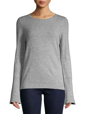 Bell-Sleeve Cashmere...