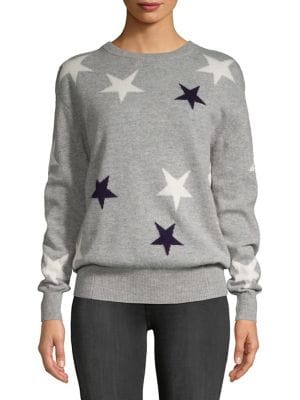 Star-Print Cashmere Sweater...