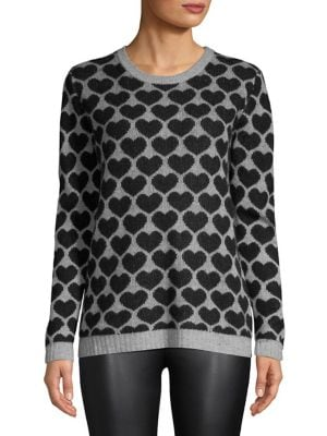 Heart-Print Cashmere...