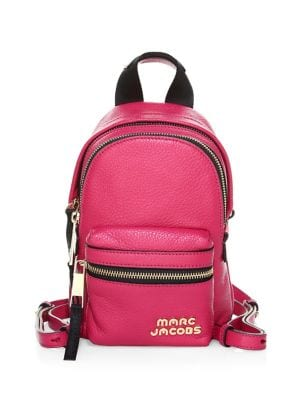 Micro Leather Backpack...