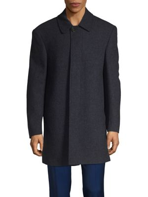 Point Collar Coat @...