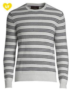 Balanced-Stripe Cashmere...