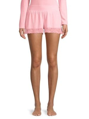 Lace-Trimmed Lounge Shorts...