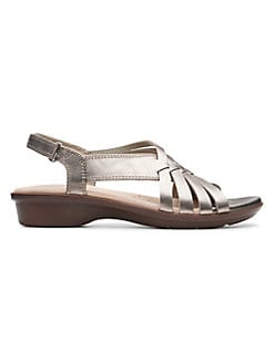 fed666d5745b Loomis Cassey Leather Sandals PEWTER METALLIC. QUICK VIEW. Product image. QUICK  VIEW. Clarks