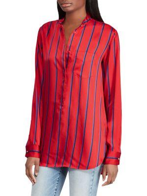 Striped Long-Sleeve Shirt...