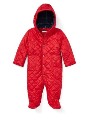 Baby Boy's Quilted Snowsuit...