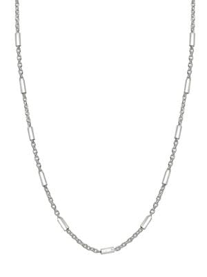 Image of Bar Sterling Silver Station Necklace