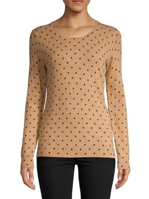 Dotted Crewneck Cashmere...