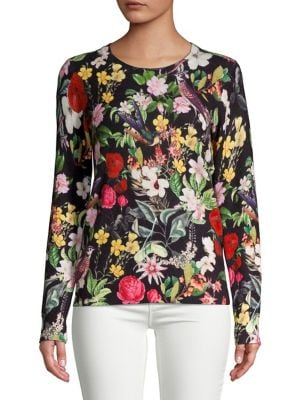 Floral Printed Cashmere...