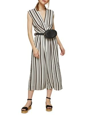 Sleeveless Striped Twist...