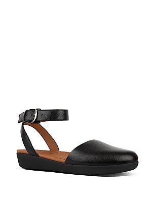 850a002f5 FitFlop - Cova Leather Ankle-Strap Sandals - lordandtaylor.com