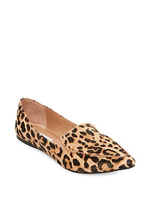 13f4b2c435d1 Steve Madden - Feather Leopard Print Calf Hair Loafers - lordandtaylor.com