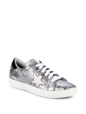 Star-Print Lace-Up Sneakers...
