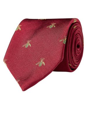 Bee Jacquard Silk Tie...